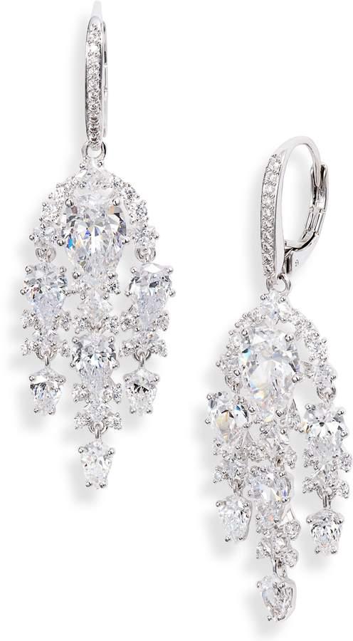 cb0363fca5daf4 Cubic Zirconia Chandelier Earrings - ShopStyle