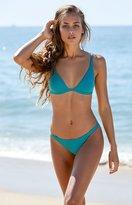 La Hearts Ribbed Fixed Triangle Bikini Top