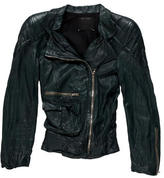 Marc Jacobs Zip-Accented Leather Jacket