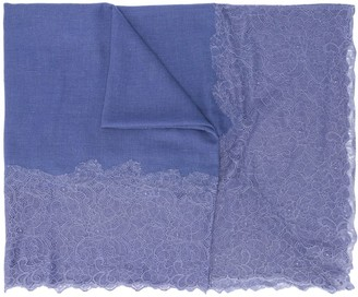 Max & Moi Lace-Trim Knitted Scarf
