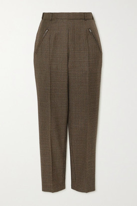 Maison Margiela Cropped Houndstooth Wool Straight-leg Pants - Brown