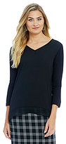 Alex Marie Romantic Semantics Tasha V-Neck Knit Blouse