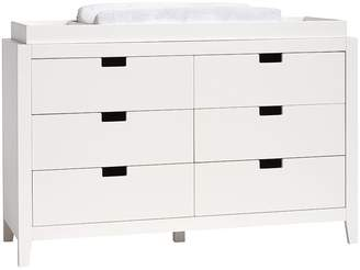 Pottery Barn Kids Marlow Extra Wide Dresser & Topper Set, Simply White