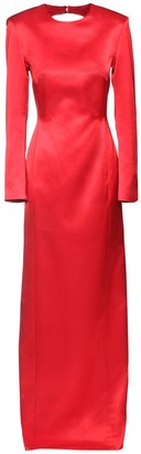 Giuseppe di Morabito Wool Blend Satin Dress W/ Back Cutout
