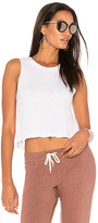 Monrow Knot Back Top in White. - size L (also in M)