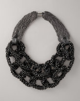 Layered Crystal-Chain Necklace