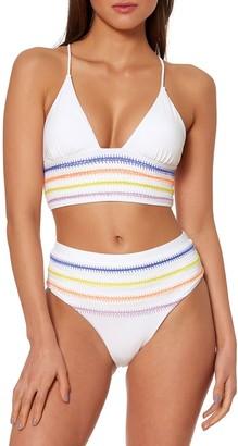 Dolce Vita Embroidered Triangle Bikini Top