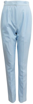 Vionnet Blue Cotton Trousers for Women