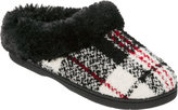 Dearfoams Women's Graphic Plaid Clog Slipper