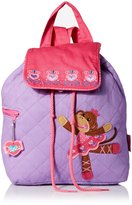 Stephen Joseph Girls' Quilted Backpack, Monkey