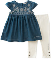 Calvin Klein 2-Pc. Denim Tunic & Leggings Set, Toddler & Little Girls (2T-6X)