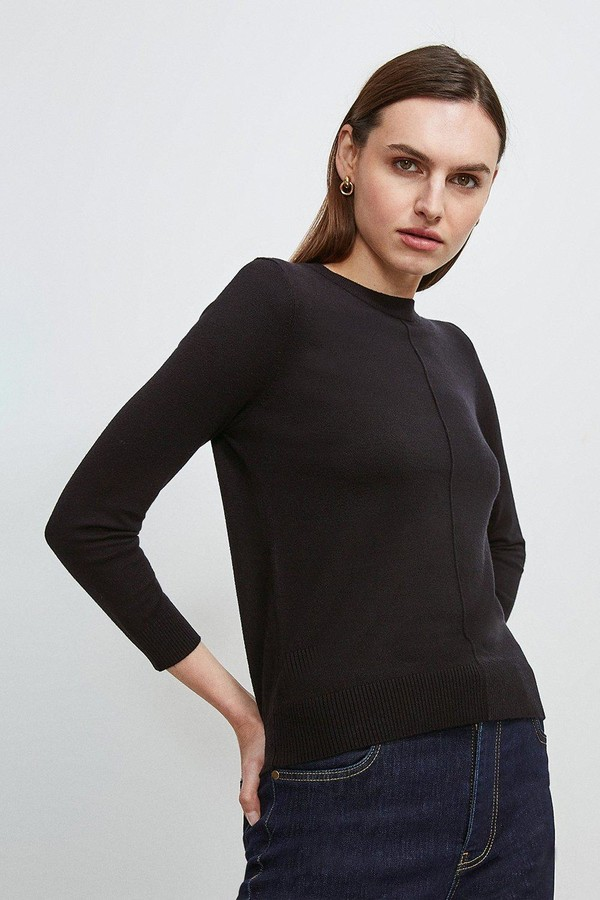 Karen Millen Button Back Knit Jumper