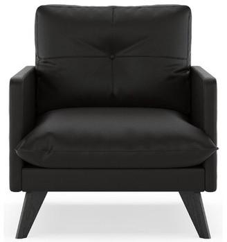 Corrigan Studio Crisler Armchair Fabric: Ivory, Leg Color: Black