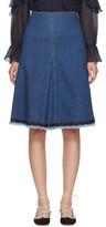See by Chloe Blue Denim A-line Skirt