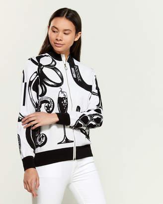 Moschino Long Sleeve Wool-Blend Full-Zip Sweater
