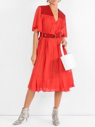 Chloé Cady Midi Dress Red