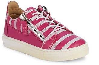 Giuseppe Zanotti Little Girl's Metallic Party Leather Sneakers