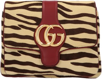 Gucci Double G Tiger Print Shoulder Bag