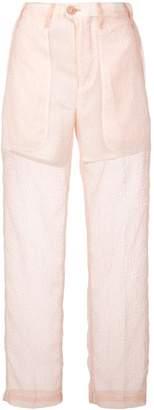Julien David Slim Sheer Trousers
