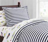 Pottery Barn Kids Organic Breton Stripe Duvet Cover