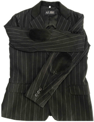 Armani Jeans Black Cotton Jackets