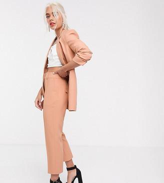 Asos DESIGN Petite mix & match tailored cigarette suit pants-Pink