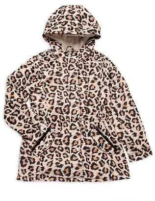 Urban Republic Girl's Faux Fur-Lined Hooded Coat