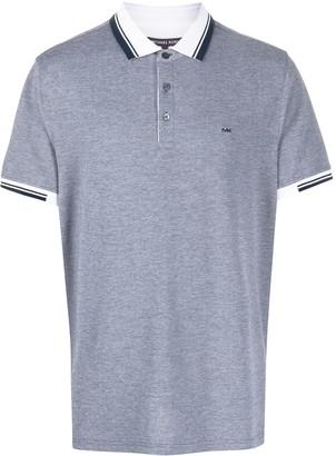 Michael Kors Striped Trim Polo Shirt