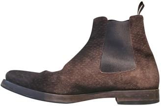 Prada Brown Suede Boots