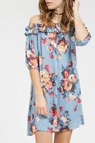 Blu Pepper Floral Off Shoulder Dress