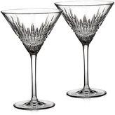 Waterford Barware, Lismore Diamond Martini Glasses, Set of 2