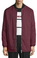 McQ by Alexander McQueen Hybrid Quilted Bomber Jacket, Burgundy