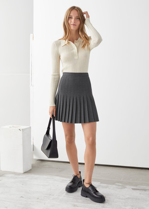 And other stories Pleated Mini Skirt