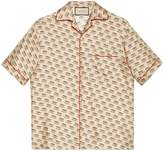 Gucci stamp bowling shirt