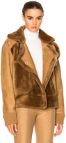 Tibi Sheep Shearling Aviator Jacket