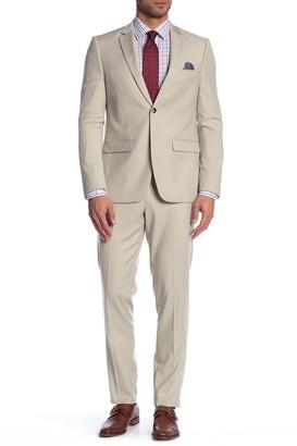 Soul Of London Two Button Notch Lapel Slim Fit Suit