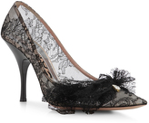 Rochas Black Pointed Feather Pump