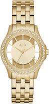 Armani Exchange A|X Women's Gold-Tone Stainless Steel Bracelet Watch 36mm AX5251