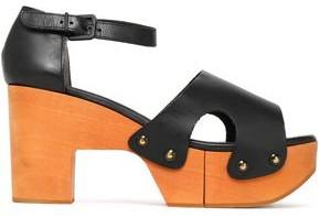 Clergerie Cevina Leather Platform Sandals