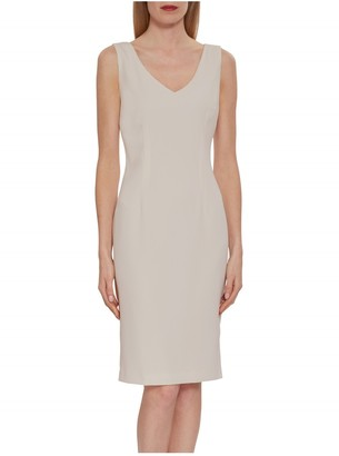 Gina Bacconi Merna Crepe Shift Dress