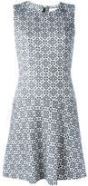 Tory Burch flared jacquard dress - women - Cotton/Acrylic/Polyester/Viscose - 6