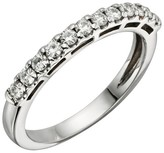 Charles & Colvard .42 CT. T.W. Round Charles and Colvard Moissanite Prong Set Band in 14K White Gold