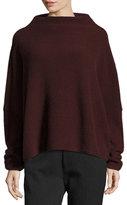 Vince Cashmere Funnel-Neck Sweater, Cordovan