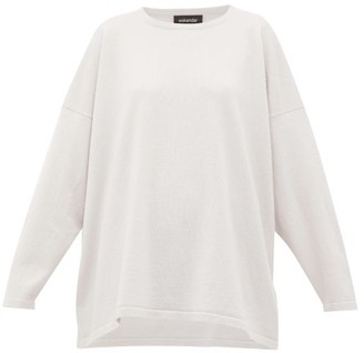 eskandar Oversized Bateau-neck Cashmere Sweater - Womens - Light Grey