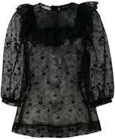 Simone Rocha frilled bib blouse