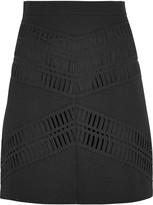 DKNY Broderie anglaise cotton mini skirt