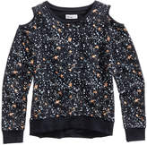 Epic Threads Cold Shoulder Galaxy-Print Sweatshirt, Big Girls, Created for Macy's