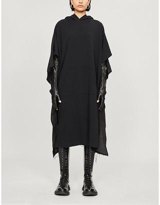 Y's Asymmetric cotton-jersey hoody dress