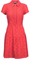 Diane von Furstenberg Skylar Broderie Anglaise Cotton Mini Dress