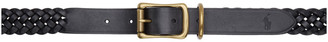 Polo Ralph Lauren Black Braided Leather Belt